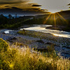 Sunrise over the Gros Ventre River, Jackson, Wyoming