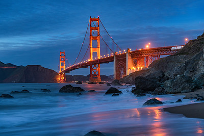 Golden Gate Bridge - blue hour