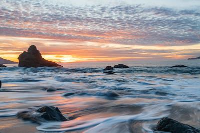 Marshalls Beach Seascape at Sunset