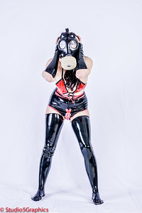 Devon is full latex fetish gear, leggins and gas mask and gloves.  Not my usual faire for latex, but wanted to expand a little bit.