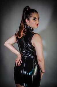Lola latex dress