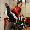 Rebel on a Ducati in Latex : Rebel model on a ducati in latex - pretty sweet bike as well.