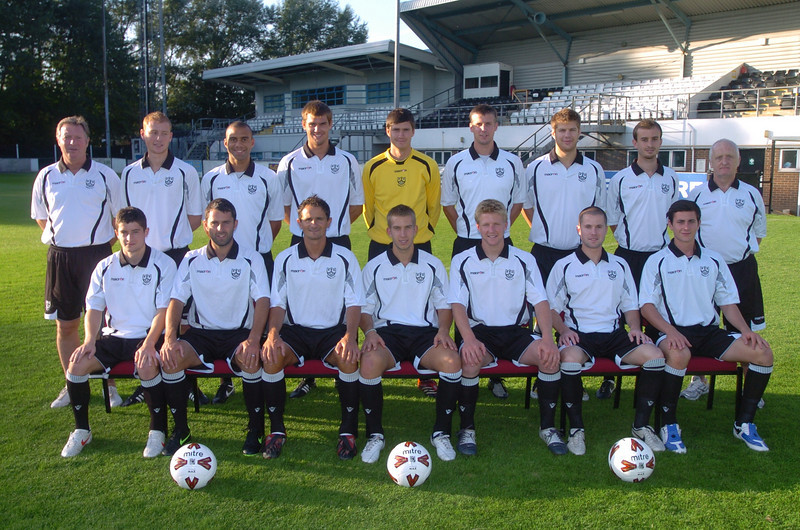 Season 2009-2010<br /> <br /> Back Row : Gary Roberts (Manager), Laurie Stewart, Neil Midgley, Steve Gentle, Zac Barrett, Dave Theobald, Lee Chaffey, James Krause, Joe Miller (Physio)<br /> Front Row : Pat Bexfield, Robbie Nightingale, Adrian Cambridge (Player-Coach), Ashley Fuller, Craig Radcliffe, Stephen Smith, Tom Pepper