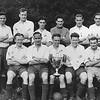 Cambridge Town FC 1945/46. Addenbrookes Hospital Cup winners.  Back row: W. Harmer, C Wren, A Keenan, J Gallego, A Gallego, E Collins, L Parr, V Watson (Trainer). Front row: G Ferguson, R Saddington, F Barnard, P O'Halloran, J Woods</CENTER>