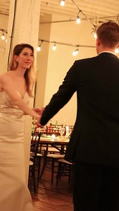 Chris and Sarah dancing at their wedding, Fort Worth, TX (Nov 2017)