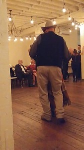 Barry and Deb dancing at Chris and Sarah's wedding, Fort Worth, TX (Nov 2017)