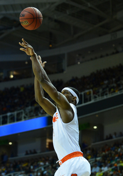 March 23, 2013: Syracuse Orange forward C.J. Fair (5) takes a shot during a game between the Syracuse Orange and the California Golden Bears in the third round of the NCAA Division I Men's Basketball Championship at HP Pavilion in San Jose, California.