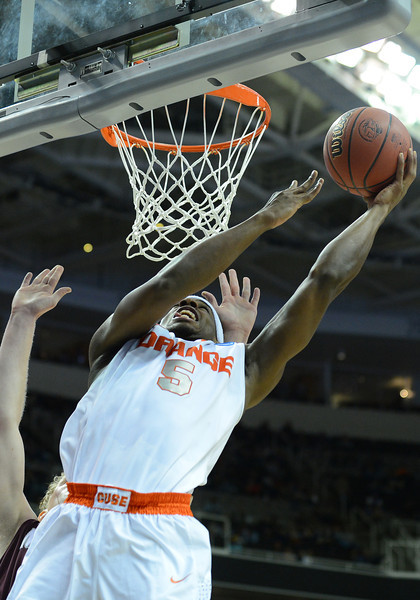 March 21, 2013: Syracuse Orange forward C.J. Fair (5) puts up a layup attempt during a game between the Syracuse Orangemen and the Montana Grizzlies in the second round of the NCAA Division I Men's Basketball Championship at HP Pavilion in San Jose, California.