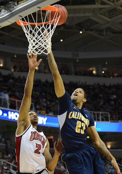 March 21, 2013: California Golden Bears guard Allen Crabbe (23) gets a layup during a game between the UNLV Rebels and the Cal Golden Bears in the second round of the NCAA Division I Men's Basketball Championship at HP Pavilion in San Jose, California.