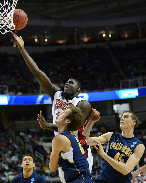March 21, 2013: UNLV Rebels forward Anthony Bennett (15) puts up a layup during a game between the UNLV Rebels and the Cal Golden Bears in the second round of the NCAA Division I Men's Basketball Championship at HP Pavilion in San Jose, California.