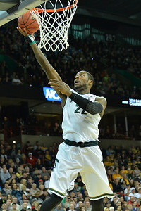 March 22, 2014: Michigan State Spartans guard/forward Branden Dawson (22) gets a layup during a third round game of the NCAA Division I Men's Basketball Championship between the 4-seed Michigan State and the 12-seed Harvard at Spokane Arena in Spokane, Wash. Michigan State defeated Harvard 80-73 to advance to the Sweet Sixteen.