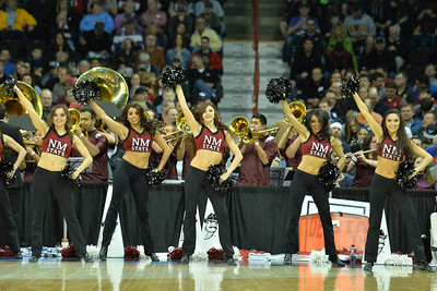 March 20, 2014: Members of the New Mexico State Aggies Sundancer perform during a second round game of the NCAA Division I Men's Basketball Championship between the 4-seed San Diego State Aztecs and the 13-seed New Mexico State Aggies at Spokane Arena in Spokane, Wash. San Diego State defeated New Mexico State 73-69 in overtime.