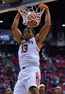 SAN DIEGO, CA - MARCH 16:  Auburn Tigers forward Desean Murray (13) dunks against the Charleston Cougars during a first round game of the Men's NCAA Basketball Tournament at Viejas Arena in San Diego, California. Auburn won 62-58.  (Photo by Sam Wasson)