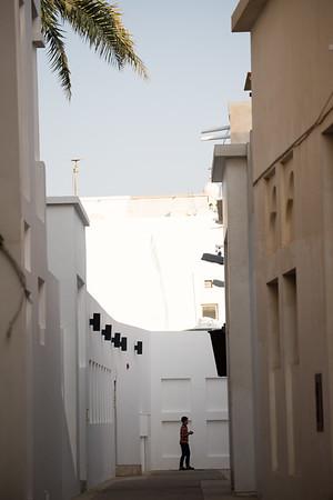 Backstreets view of the Muharraq quarter of Manama, Bahrain.