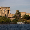 Philae Temple on an island in the Nile river near Aswan, Egypt.