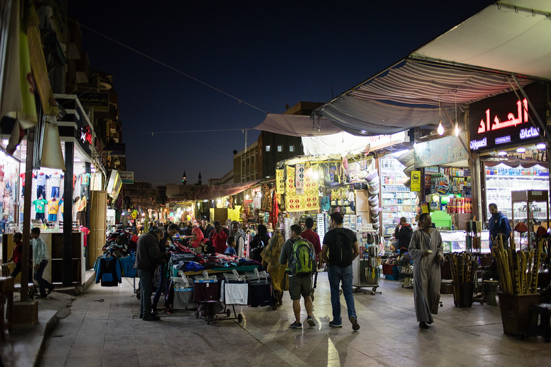 Street scene from the Old Souk in Aswan, Egypt.