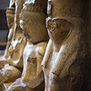 Statues inside the Egyptian Museum in Cairo.