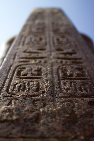 Hieroglyphs outside the Egyptian Museum.<br /> <br /> Cairo, Egypt