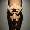 A large statuary head on display in the Luxor Museum in Upper Egypt.