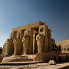 Entrance structure of the Ramsseum Temple in Luxor, Egypt.