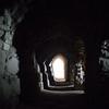 Interior of Al Karak Castle in Jordan.