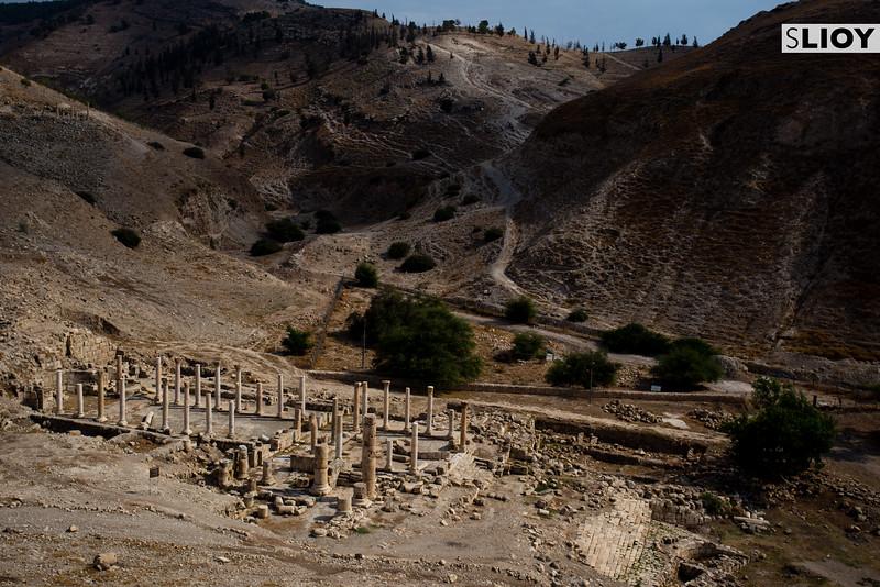 Ruins of the temple at Pella in Northern Jordan.