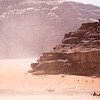 Camels on the march in Wadi Rum, Jordan.