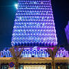 Historic architecture of the Gulf Bank building in Kuwait City.