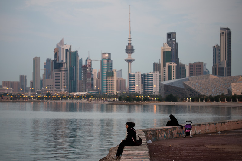 Kuwait Bay as seen from the Corniche in Kuwait City.