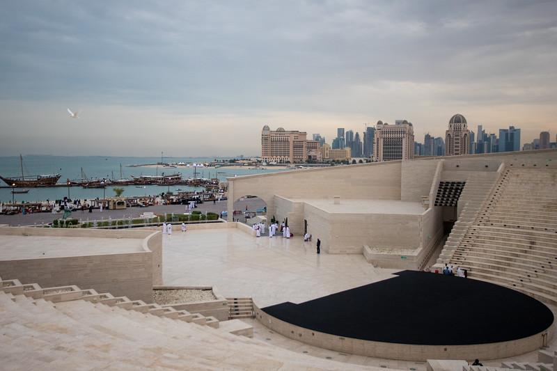 Auditorium of the Katara Cultural Complex in Doha, Qatar.