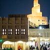 Night in the Souq Waqif area of Doha, Qatar.
