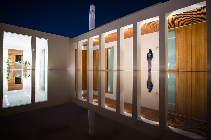Reflections at the Msheireb Museums in Doha, Qatar.