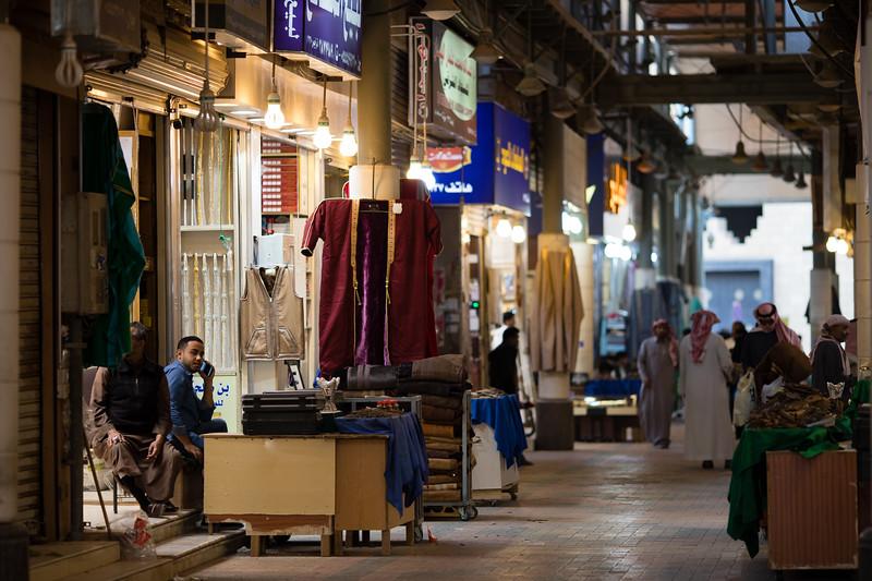 A vendor waits for customers inside the Souq Al Zel in Riyadh, Saudi Arabia.