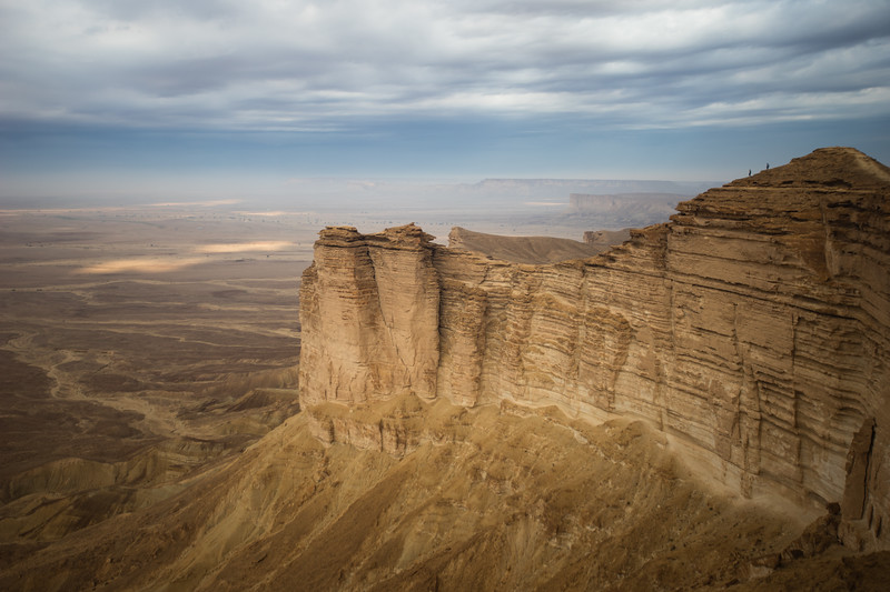Visiting the Edge of the World on the outskirts of Riyadh, Saudi Arabia.