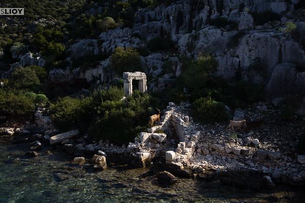 Ruins of the Sunken City Kekova.