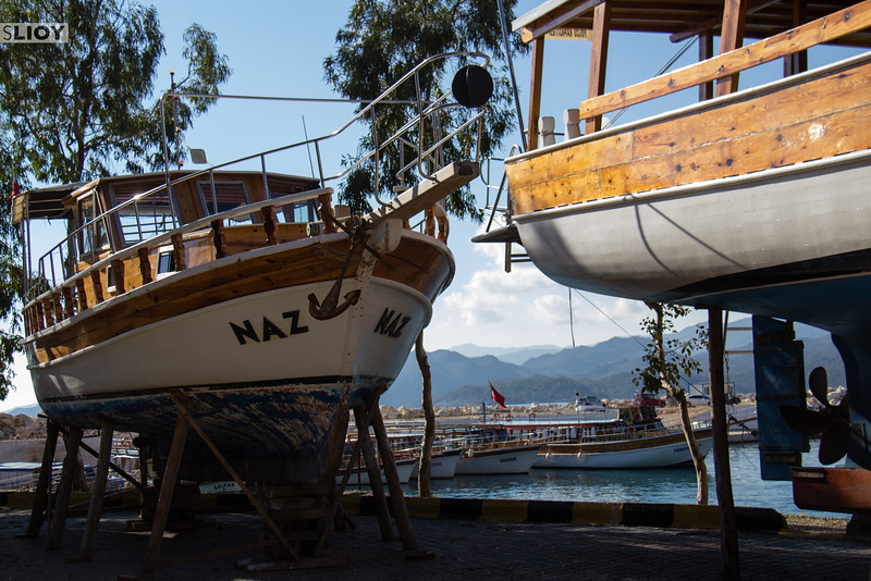 Boats to the Sunken City of Kekova.