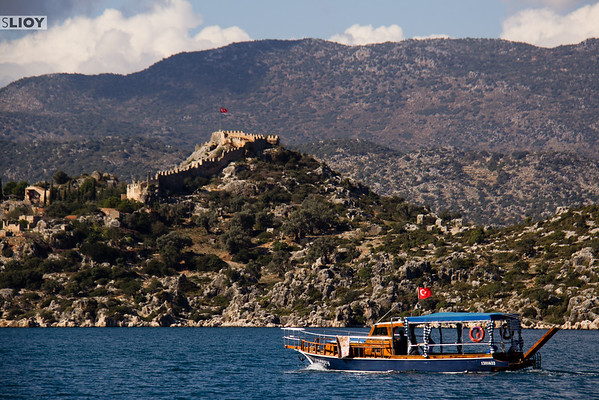 Fortress over Kalikoy near the Kekova Sunken City.