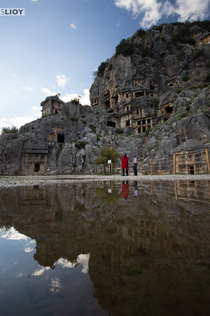 The Rock tombs in Myra.