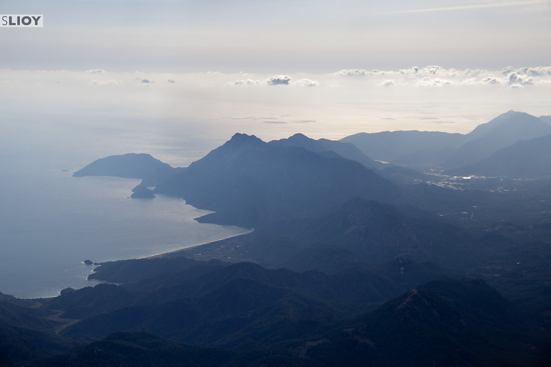The view over Turkey's Lycian Coast from Mt Olympos.