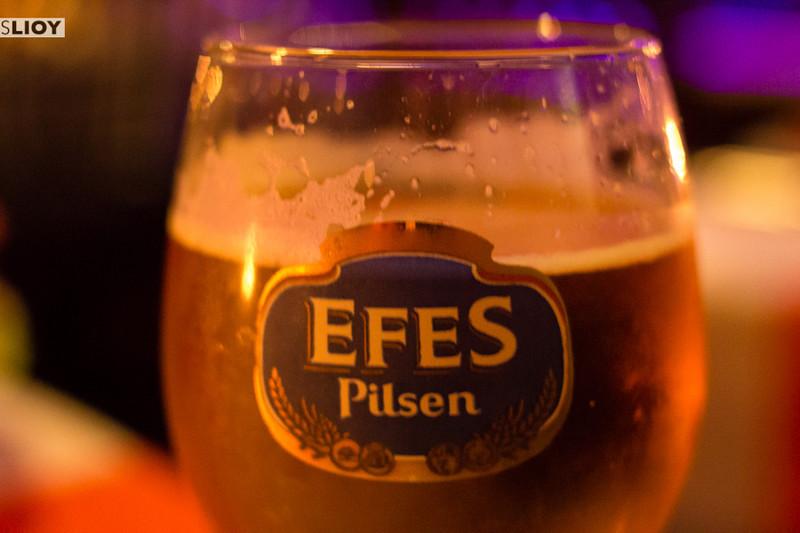 Efes Beer in Istanbul.