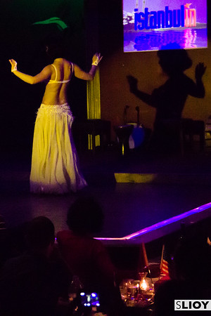 Shadow of a belly dancer in Istanbul, Turkey.