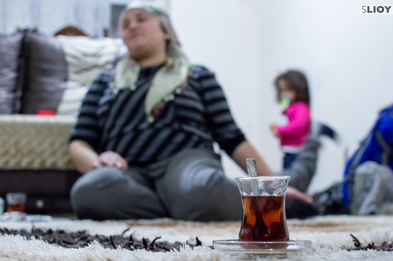 After-dinner tea at a family home in Istanbul, Turkey.