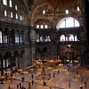 Interior of the Hagia Sophia Istanbul.