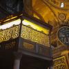 Ottoman Sultan's private room inside the Hagia Sophia in Istambul.