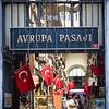 Shoppers in Avrupa Pasaji just off the popular Istiklal street in Istanbul, Turkey.