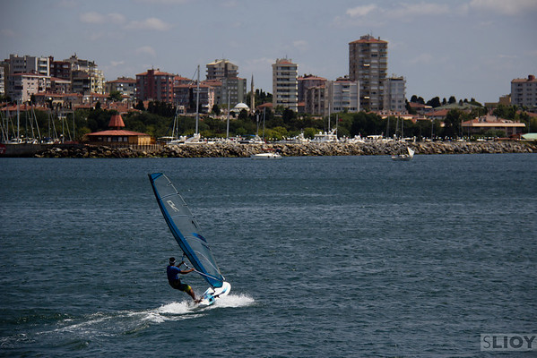 windsurfing at kalamis marina