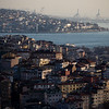 View of the Bosphorus and Anatolian side of Istanbul from the Sisli neighborhood.