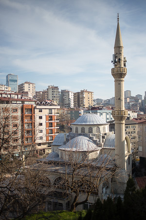A small mosque tucked into the Sisli neighborhood of Istanbul.