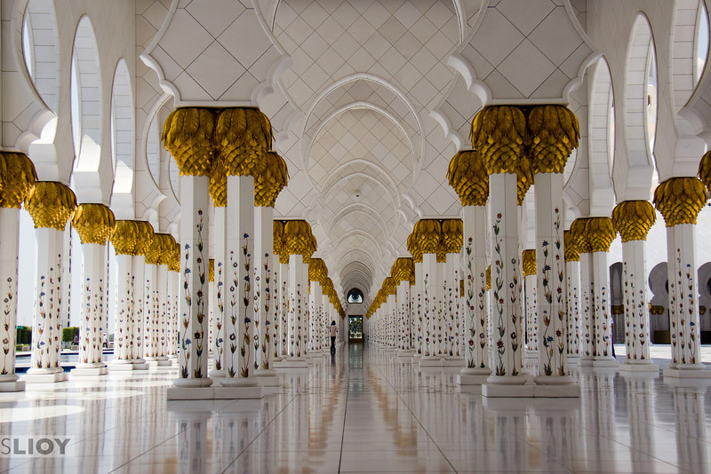 Hallowed Halls of Sheikh Zayed Grand Mosque.