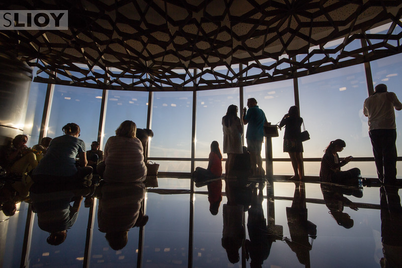 Reflecting on the view from AtTheTop of the Burj Khalifa in Dubai.